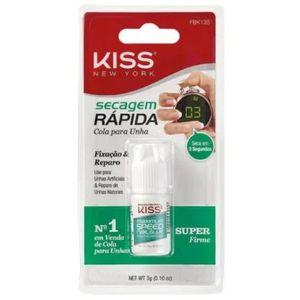Cola Para Unhas Postiças Kiss New York Secagem Rápida 3g