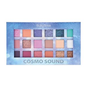 Paleta de Sombras Ruby Rose Cosmo Sound HB1060 18 Cores